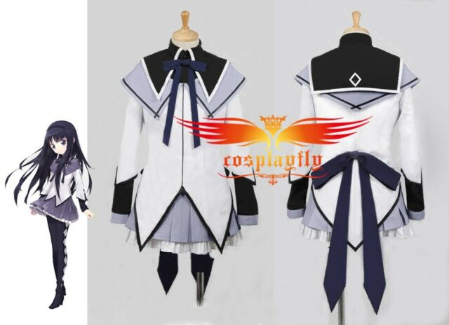 Puella Magi Madoka Magica Homura Akemi Cosplay Costume C0050