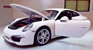 G-LGB-1-24-Scale-Porsche-911-Carrera-S-Detailed-Rastar-Diecast-Model-Car-56200