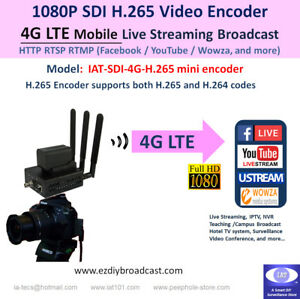 Details about 4G LTE SDI Camera-top WiFi H 265 encoder RTMP Facebook  YouTube live streaming