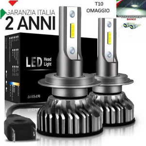 KIT-LED-H7-6000K-FULL-CANBUS-XENON-12000LM-LUMEN-LAMPADE-T10-OMAGGIO