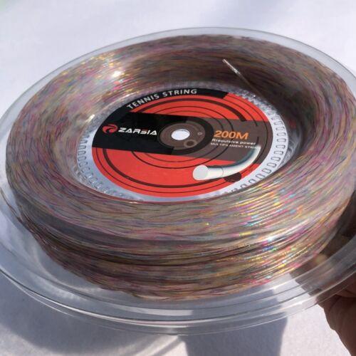 1 Reel Synthetic Flash Nylon Rainbow Tennis String Soft Feeling Tennis Racket