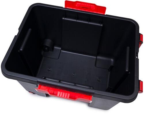 Aufbewahrungsbox mit Deckel Malle 120L Stapelbox Werkzeugkasten Transportbox NEU