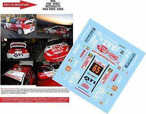 DECALS-1-18-REF-984-PEUGEOT-206-WRC-ROSSETTI-RALLYE-MONTE-CARLO-2005-RALLY