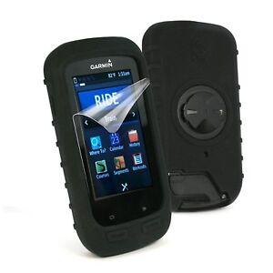 Black-Garmin-Edge-1000-Silicon-Case-Cover-Free-Screen-Protector