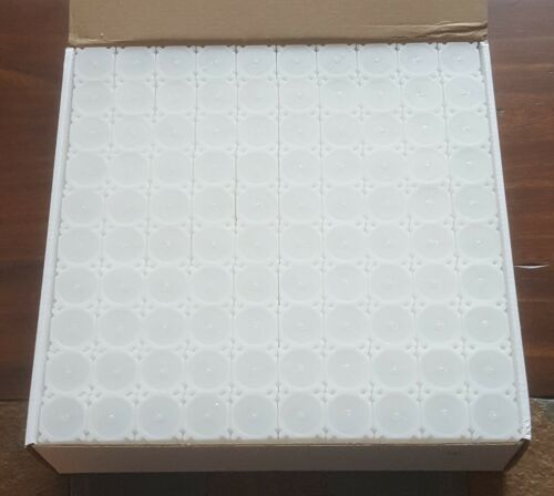 One Brand New Box of 100 Coinsafe Stackable Durable Hard Plastic Quarter Tubes!!
