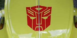 1-Red-Bumblebee-VW-Transformers-Autobot-Logo-12-034-Decal-Car-Sticker-other-sizes