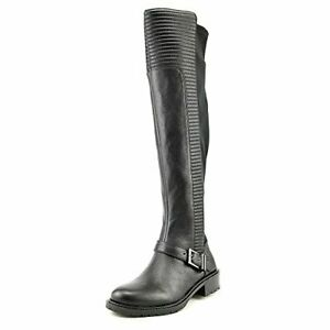 BCBG-SIGMOND-TALL-OVER-THE-KNEE-OAK-LEATHER-STRETCH-ELASTIC-BACK-MOTO-BOOTS