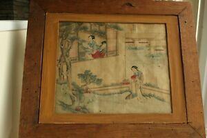 c6e270d7c1bd3 Image is loading 19th-Century-Qing-Dynasty-Antique-Chinese-Painting-on-