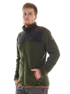 CMP Jacke Steppjacke Freizeitjacke grün Kragen Zipper Druckknöpfe