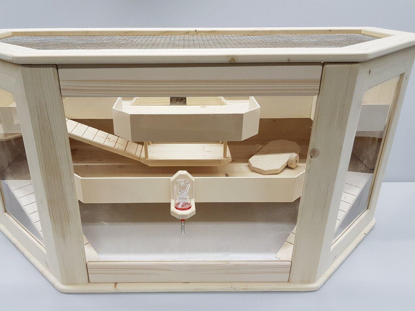 Hamsterland Käfig aus Holz 3 Ebenen