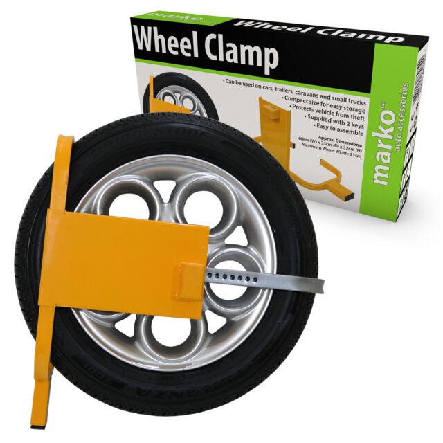 "Wheel Clamp Security Lock Wheels 13-15/"" Diameter Caravan Motorhome Trailer Cars"
