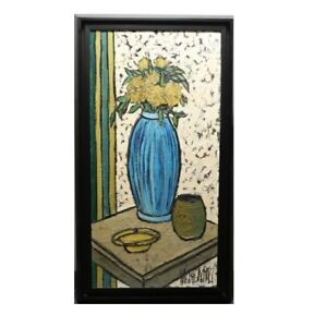 PHILLIPE-MARCHAND-FRENCH-20TH-C-LARGE-STILL-LIFE-IMPASTO-OIL-ON-CANVAS