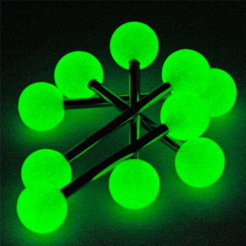 10x//Set lumineux boule barre d/'haltères anneaux langue barres piercing BBFR
