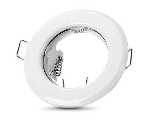 Einbaustrahler matt LED Leuchte GU10 Einbauspot 230V Aluminium gebürstet Weiß