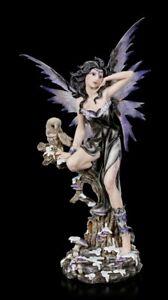Große Elfen Figur - Fee Noctua mit Eule - Fantasy Statue Fairy Deko Geschenk
