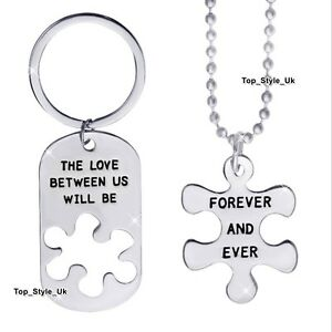 XMAS GIFTS for couple  Matching Silver Necklace amp Keyring Set Men and Women E7 - -, United Kingdom - XMAS GIFTS for couple  Matching Silver Necklace amp Keyring Set Men and Women E7 - -, United Kingdom