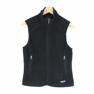 Patagonia-Synchilla-Womens-Gilet-Sleeveless-Zip-Through-Black-Fleece-Jacket-S