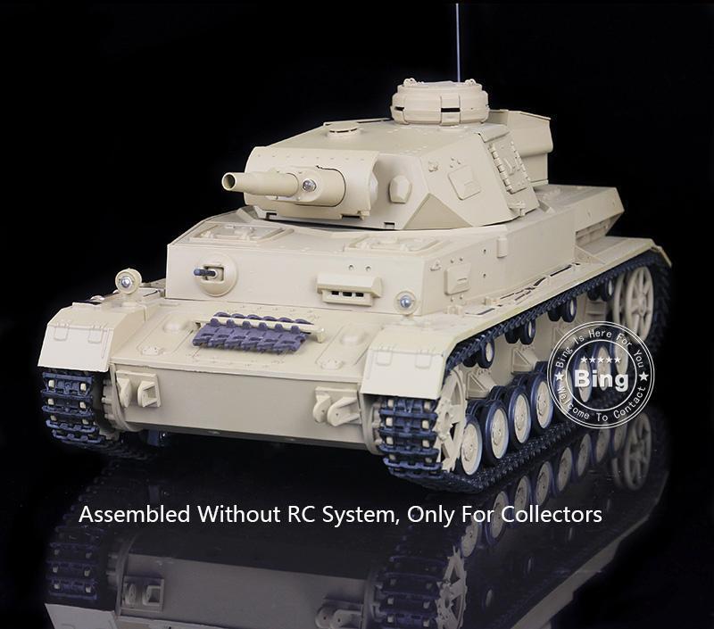 Henglong 1 16 tedesco IV F in plastica statico TANK MODEL 3858 W O RC Batteria del sistema