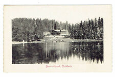 Christiania Norway Besserudtjernet early 1907 black and white view