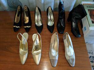Stuart-Weitzman-women-039-s-leather-Boot-Black-8-5-pancaldi-heals-martinez-valero