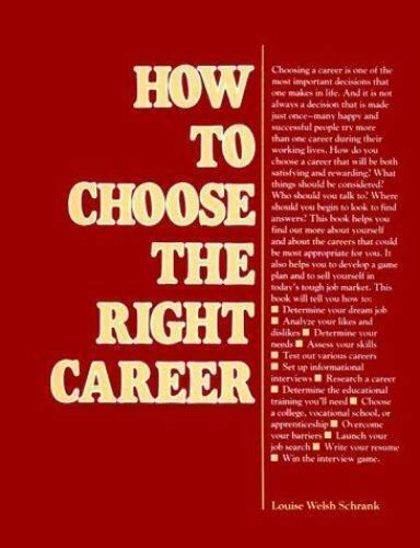 How to Choose the Right Career [VGM HOW TO SERIES]