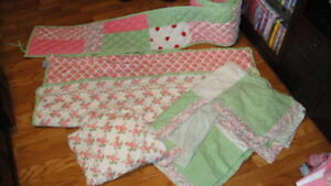 New Land Of Nod Winter Spring Summer Patch Percale Crib Ebay