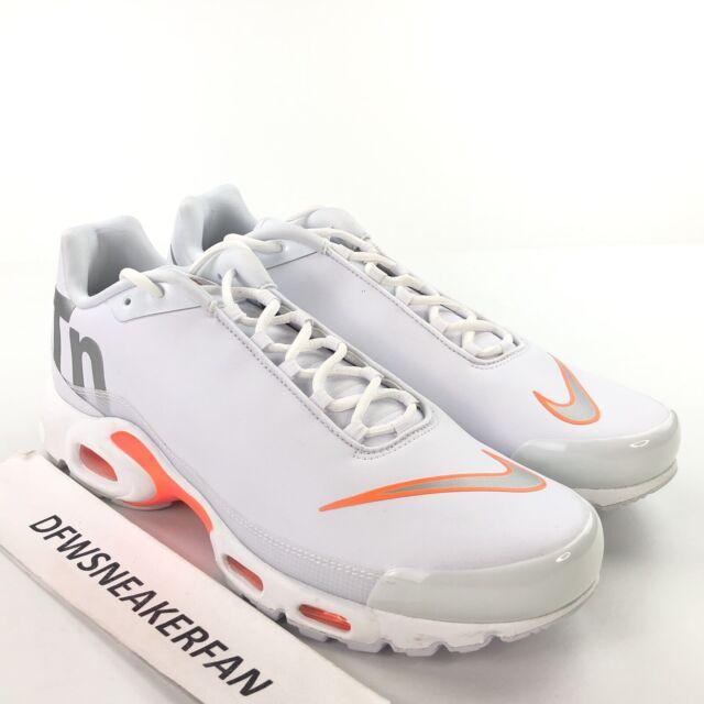 Details about Nike Air Max Plus TN SE Big Logo White Silver Orange AQ1088 100 Men's Size 10