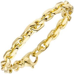7-7mm-Ankerarmband-Armkette-aus-585-Gold-Gelbgold-Armschmuck-21cm-Goldarmband