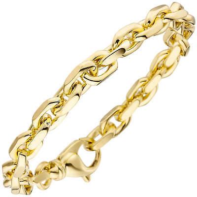 ZuverläSsig 7,7mm Ankerarmband Armkette Aus 585 Gold Gelbgold Armschmuck 21cm, Goldarmband Mild And Mellow