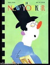 The New Yorker Magazine September 30 2002 Booksnob by Bob Zoell (HA) Good
