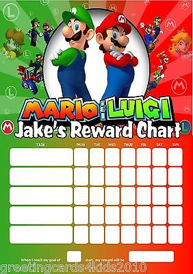 Personalised Lego Reward Chart /& Pen with or without photo