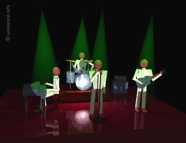 MARIO STRACK - The Band 3 limitiert Grafik Original signiert Druck Bilder Kunst