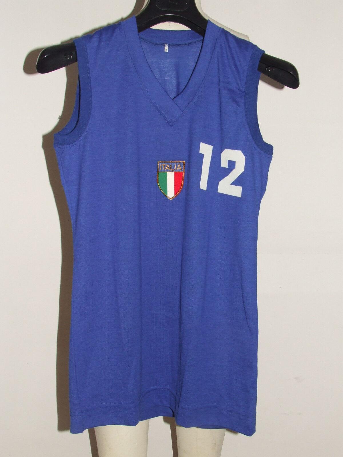 MAGLIA SHIRT MAILLOT CANOTTA  BASKET MATCH WORN ITALIA ITALY FEMMINILE 12 70'S