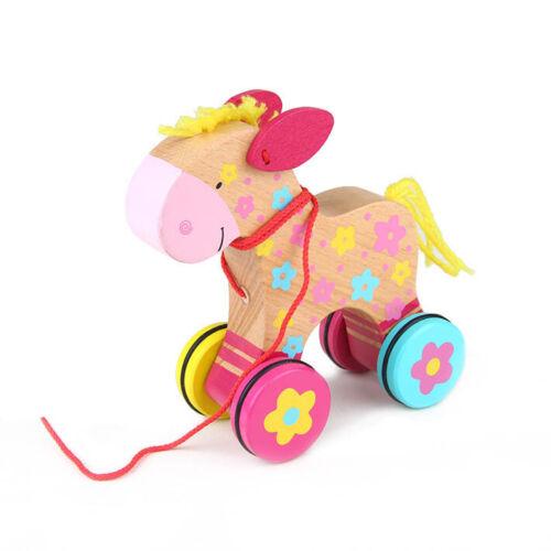 Ziehtier Ziehtiere Ziehfiguren Geschenk Motorik Pferd Rolltier  Nachziehtiere