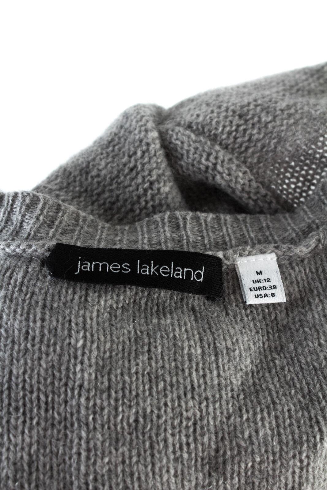 James Lakeland Giacca Giacca Giacca A Maglia Tg 38 CASHMERE CARDIGAN ASIMMETRICO MAGLIA JACKET be9602