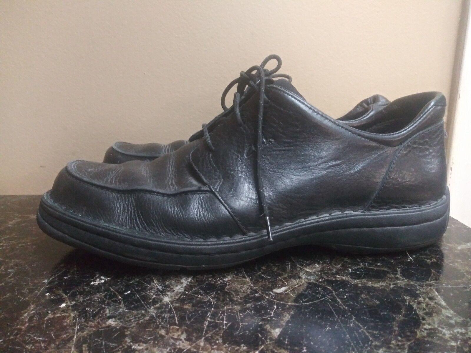 Clarks Men's Lace-Up Casual shoes Size 13M Black Leather