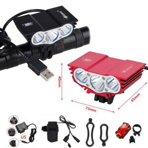 10000LM-3x-XM-L-T6-LED-USB-Ciclismo-Lampara-Luz-delantera-del-faro-bicicleta-Hot