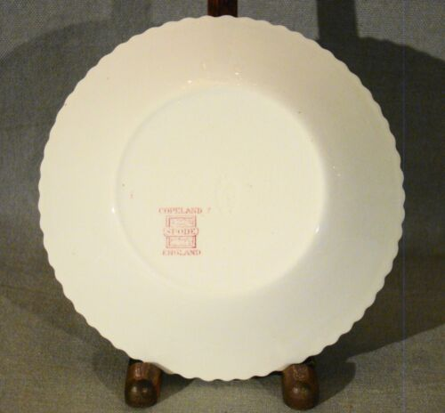"Antique Copeland Spode Red Transfer Flowers Pattern Fruit Bowls 5 1//2/"" 1925-1926"