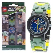 LEGO Kids' STAR WARS With YODA Mini-Figure Link Bracelet Kids Watch 8020295 NEW