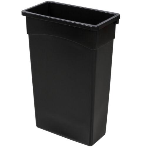 23 Gallon Black Wall Hugger Tall Kitchen Trash Can 2748322BK