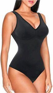Nebility Women Waist Trainer Shapewear Slim Body Shaper Sexy, Black, Size Large