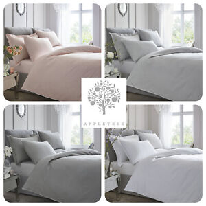 Appletree-100-Cotton-200TC-Percale-Plain-Dye-Duvet-Set-with-Contrast-Piping