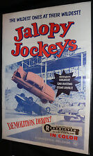 Jalopy Jockeys Movie Poster - Demolition Derby - Restriced Sticker (C-7) 1960's