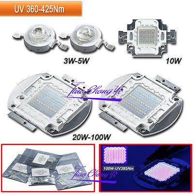 3W 10W 50W 100W 365NM 380NM 395NM UV Ultra Violet High power LED  for Aquarium