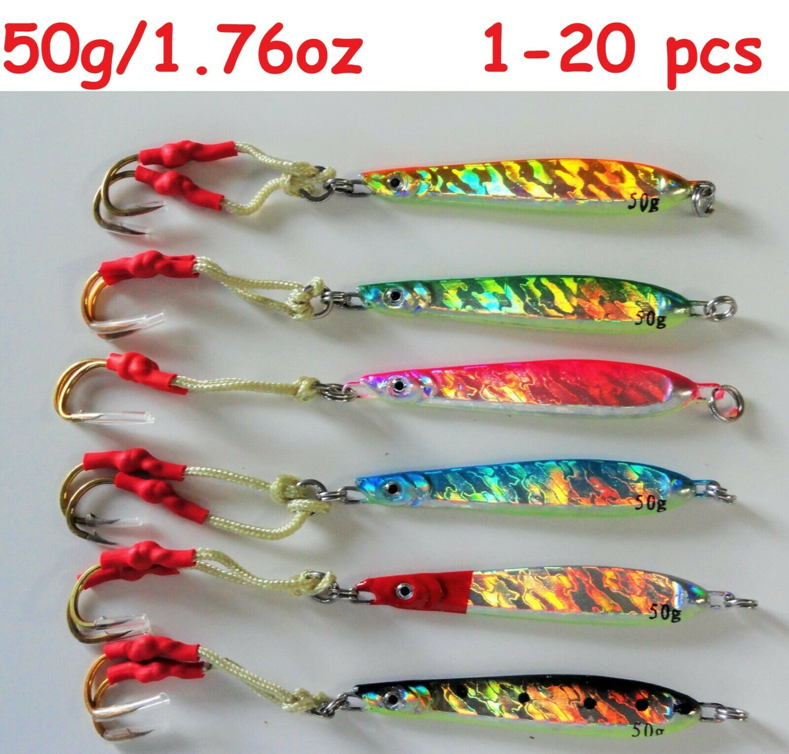 1-20 pcs Knife  Jigs 50g 1.75oz greenical Speed Butterfly Saltwater Fishing Lures  amazing colorways
