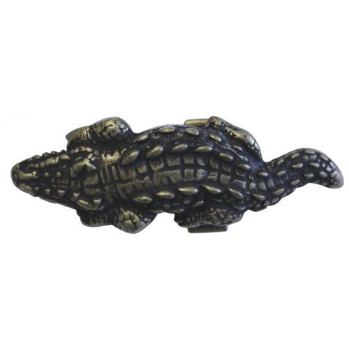 Gürtelschnalle Krokodil XXL 4,0 cm Gürtelschnallen Tiermotive Reptil