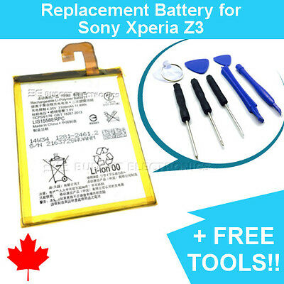 NEW Sony Xperia Z3 Replacement Battery LIS1558ERPC with FREE Repair Tools