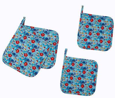 New DISNEY Lilo /& Stitch Cupcake Toss Cotton Set Of 2 Pot Holder