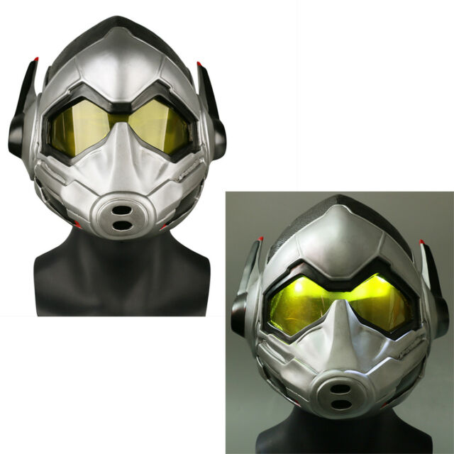 The Wasp LED Latex Helmet Cosplay Ant-Man and The Wasp Superhero Woman LED Mask