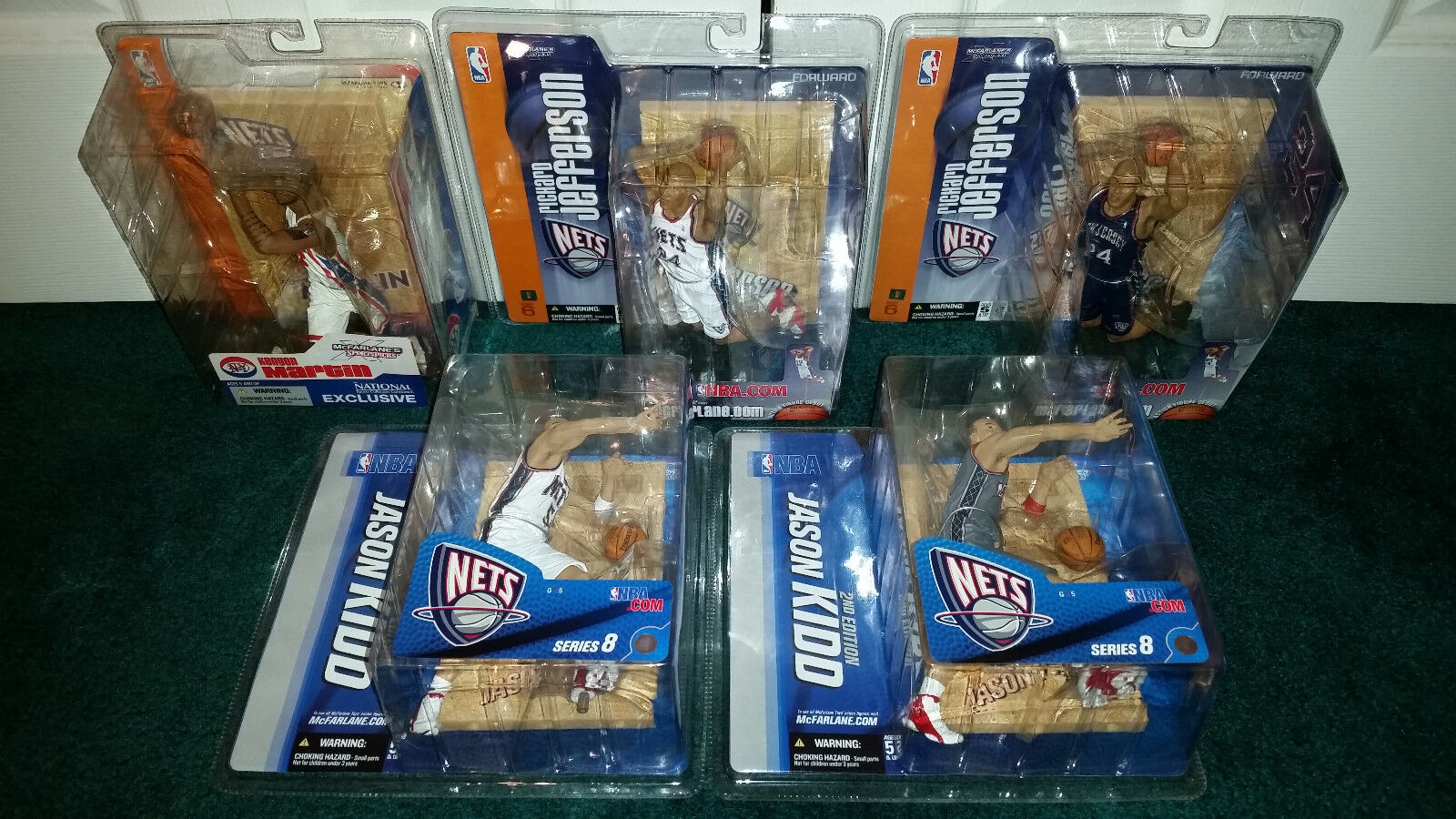 Nets & NBA LOT Kenyon Martin Exclusive + Richard Jefferson & Nets Jason Kidd VARIANTS 627fb2